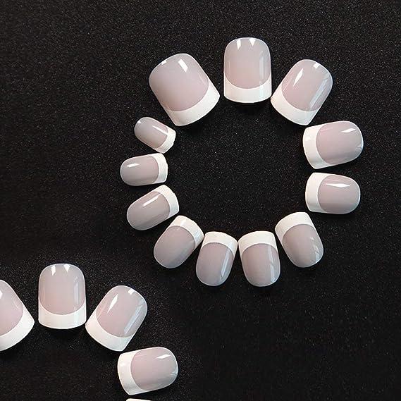 Natural francés Nails, 240 uñas postizas en 12 estilos distintos false nails(Rosa),Uñas Postizas Impress para DIY Manicura, Halloween, Navidad: Amazon.es: ...