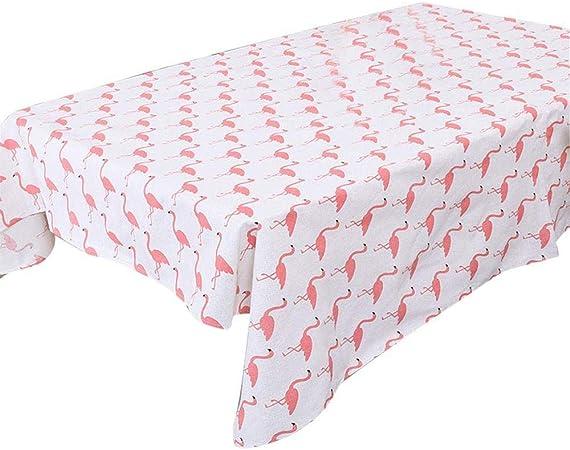 Uteruik Mantel Mesa Rectangular Algodón Paño de Mesa Serie Flamingo Cubierta de Tabla Mesa de Centro Mantel (60 * 60cm), 1 Unidad (MB-#v): Amazon.es: Hogar