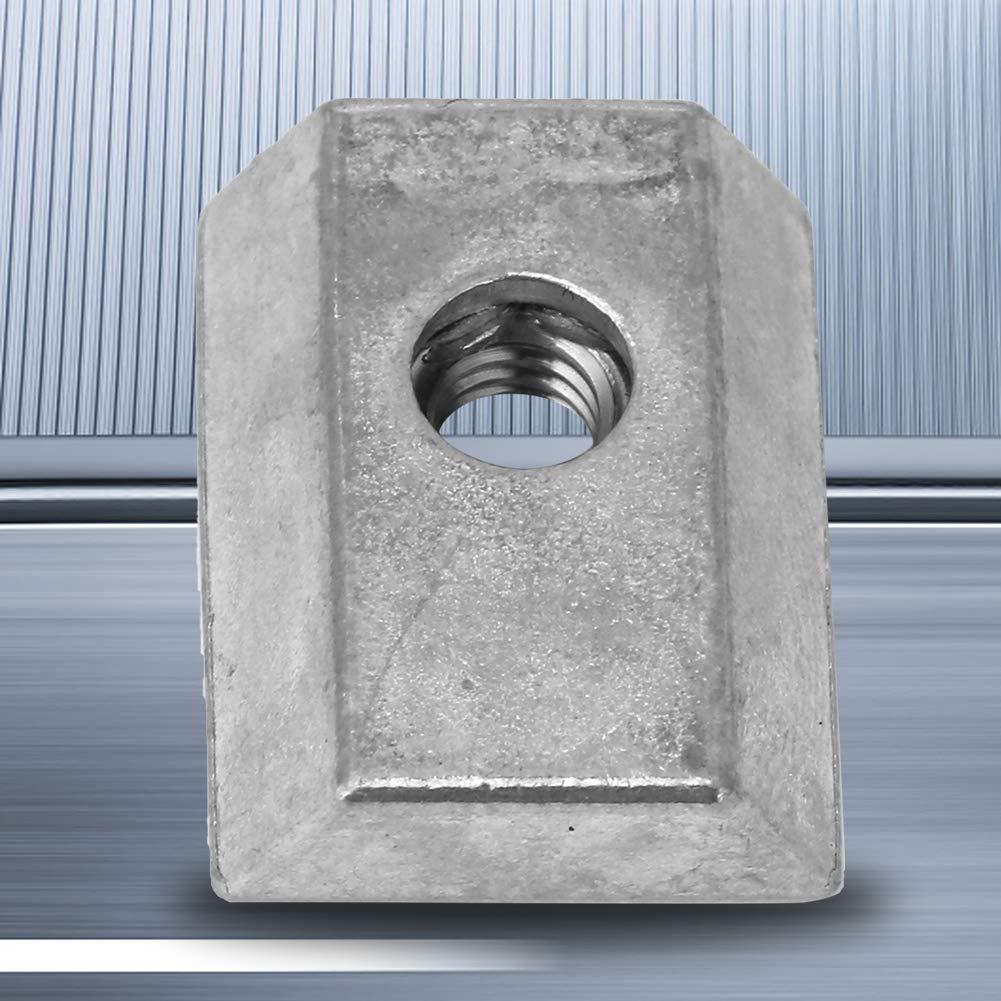 10pcs Z042M Metal Slot Nut Solid Durable Zinc Alloy Single Slot Nut for Fixing Lathe Parts Accessories Furniture
