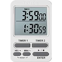 Taylor Dual Event - Temporizador Digital con Reloj, Color Blanco