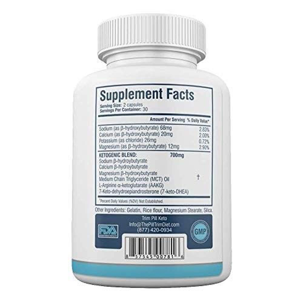 Trim Pill Keto Advanced Diet Formula - BHB Carb Blocker Supplements - 100% Natural - 30 Day Supply - 60 Capsules (1 Month Supply) by Trim Pill Keto (Image #2)