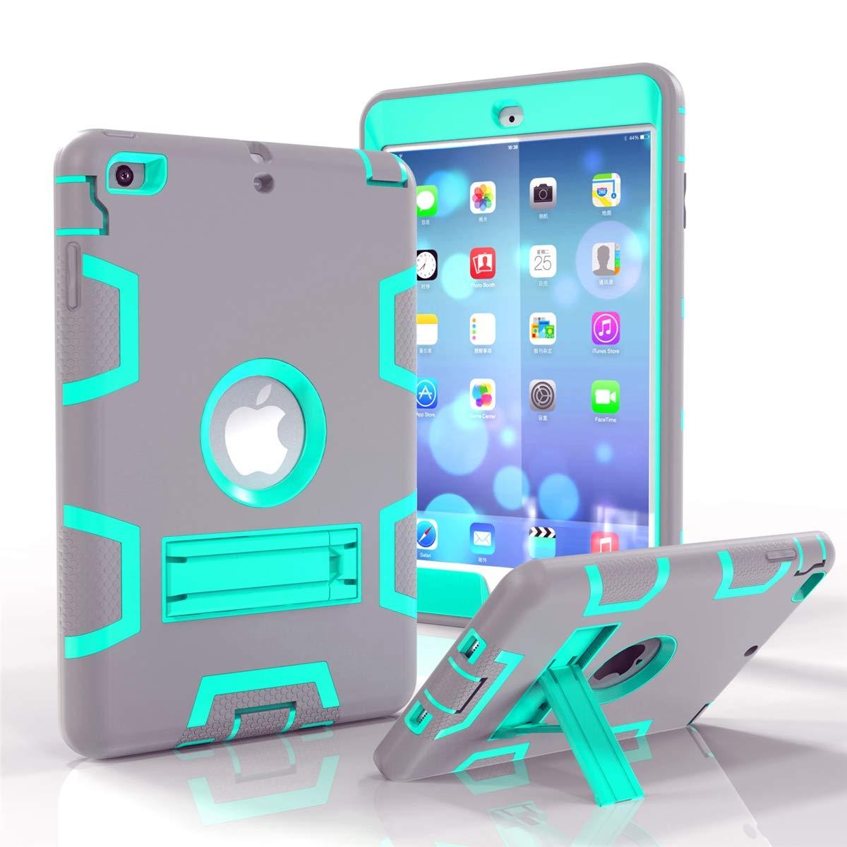 品質保証 Codream iPad Mini 1 + 2 3 3 ケース ハイブリッド 耐衝撃 Mini スリムカバー フィット スクラッチ, ELRI-OT-464 Grey + Aqua B07L9BF7LZ, Kicks-Online:fd099817 --- a0267596.xsph.ru