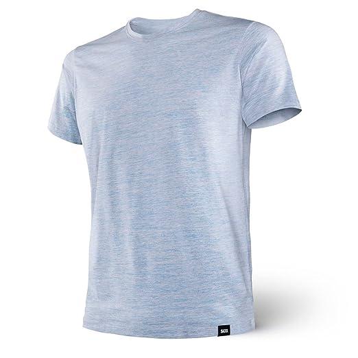 51a5aeee8 Amazon.com  Saxx Men s Underwear-Ultra TRI-Blend SS Crew-Blue ...