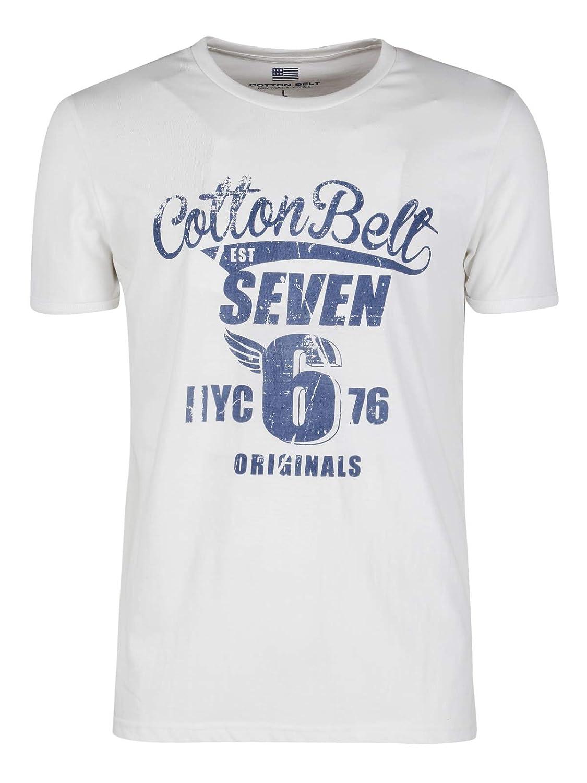 T Shirt Uomo in Cotone con Scritta Bianco Cotone: Amazon.it