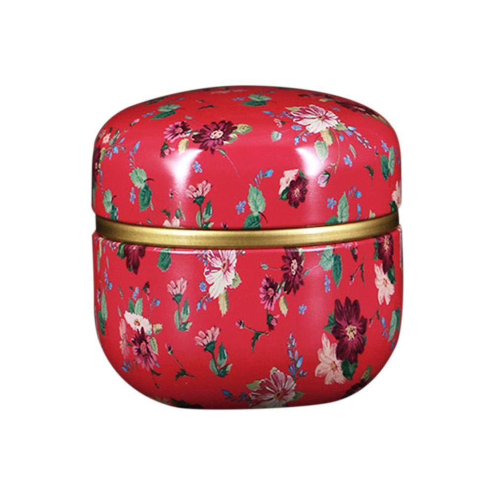 mollylover Aufbewahrungsbox-Universal Seal Kleine Metall Teedose Aufbewahrungsbox, Mini Tragbare Umweltfreundliche Geruchlose Reise Runde Kann Eisen Box