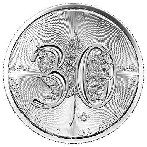 2018 CA Silver Maple Leaf - 30th Anniversary $ Coin $5 GEM BU Uncertified