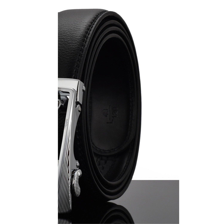 Eric Hug?Fashion?Fashion Designers Men Automatic Buckle Leather luxury Belts Business Male Alloy buckle Belts for Men Ceinture Homme Q 125cm