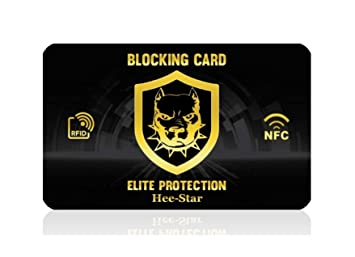 RFID Blocker, RFID Card Protector - Tarjeta RFID Bloqueo para Tarjetas de crédito sin Contacto, Protector Tarjetas credito, Anti RFID NFC, una Sola ...