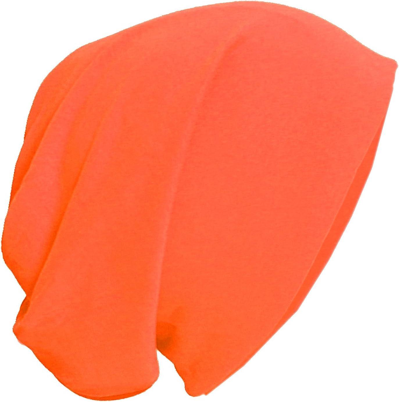 BRUBAKER Unisex Slouch Beanie aus leichtem Jersey in gro/ßer Farbauswahl