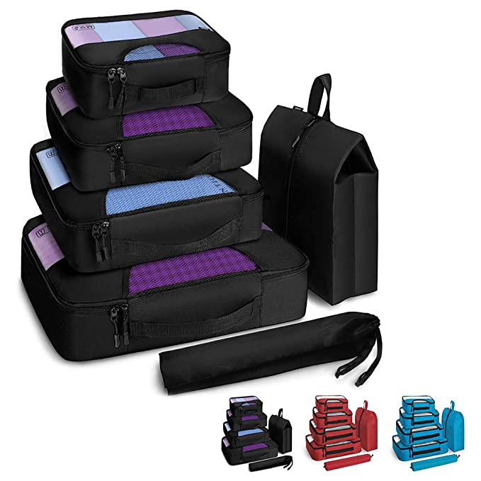 The Veken 6 Set Packing Cubes travel product recommended by Anna Ransom on Lifney.