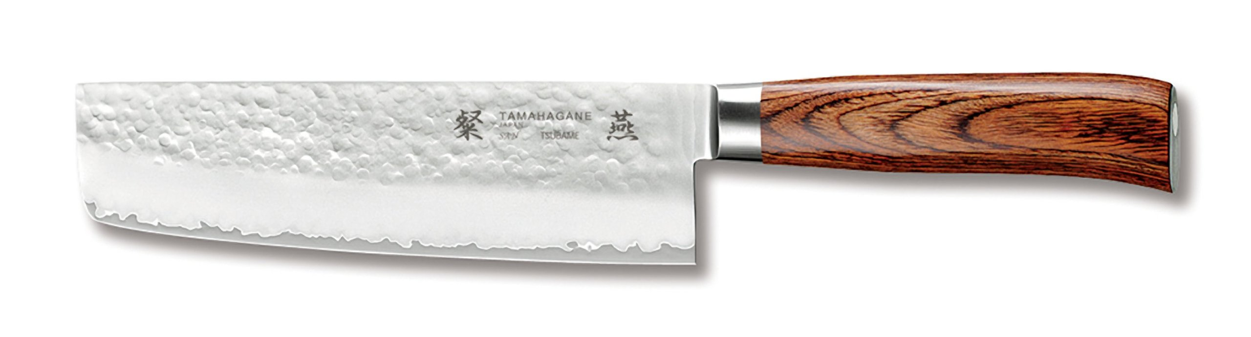 Tamahagane San Tsubame Wood SNH-1165 - 7 inch, 180mm Nakiri Vegetable Knife