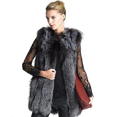 Women Fur Vest Jacket Luxury Imitation Fox Warm Jacket