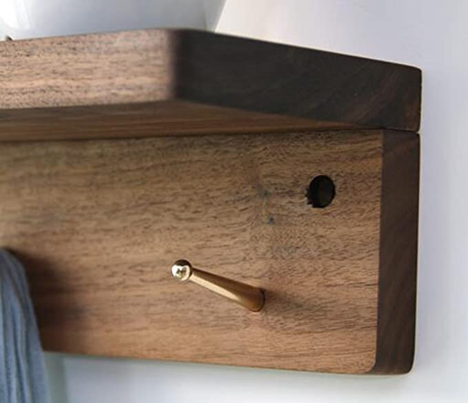 Amazon.com: YMJ - Perchero de madera maciza, estilo japonés ...