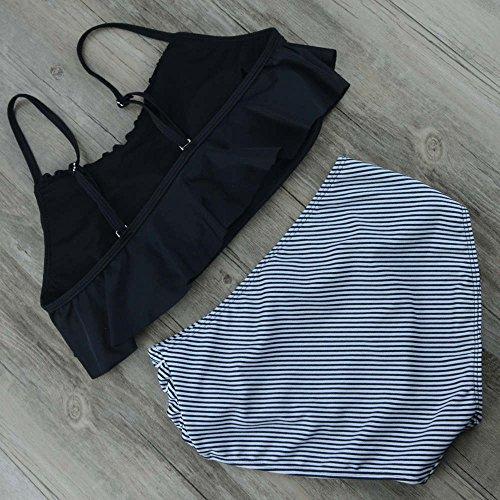 3347ad2de285 on sale DELEY Mujer Cintura Alta Bikini Set Lindo Volantes Correa ...