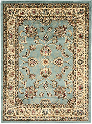Sweethome King Collection Mahal Blue Teal Oriental Design (7'10