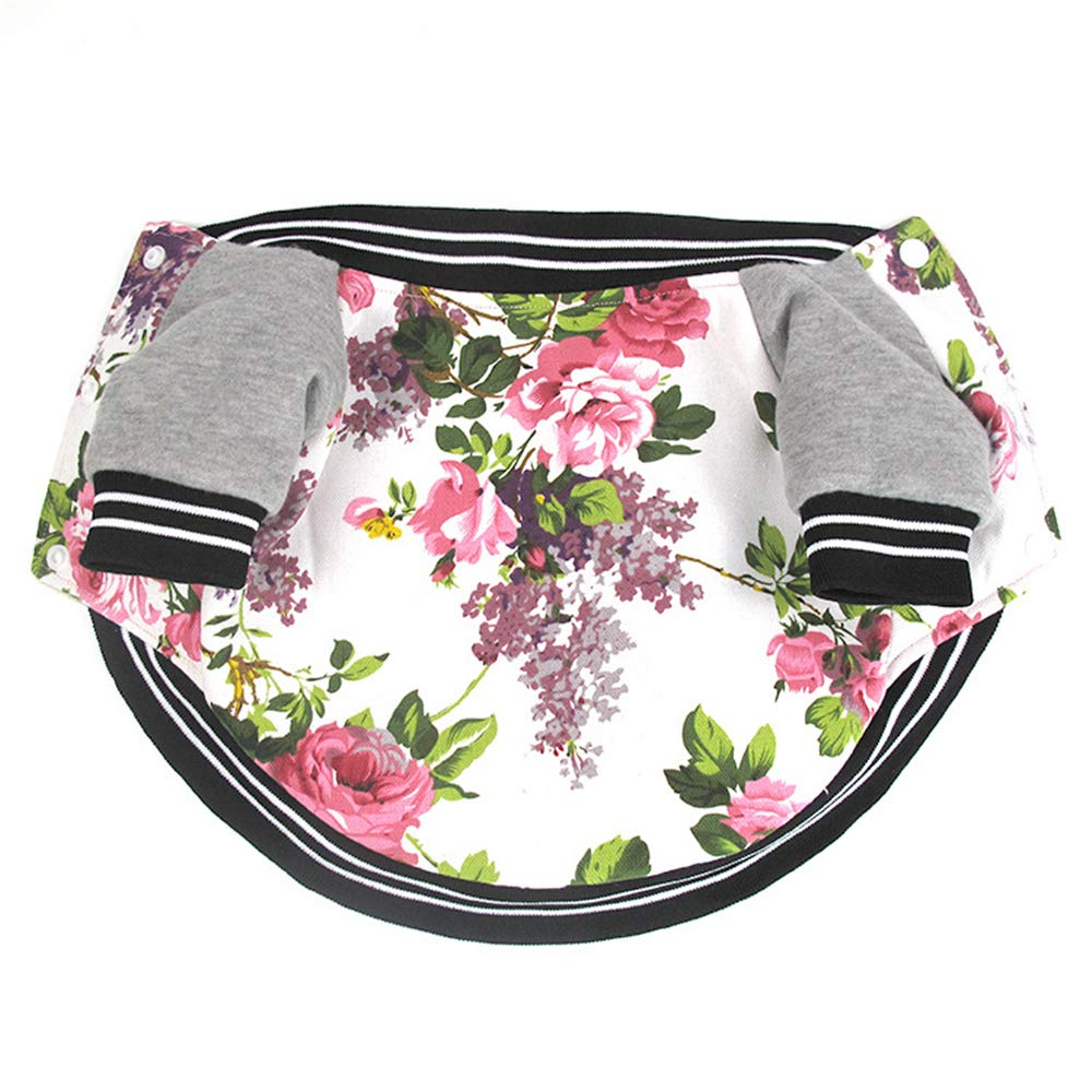 Flower M Flower M MaxTide Winter Puppy Jacket for Small Dogs Warm Coat Sweater Two Legs Pet Clothes for Dog (Flower-M)
