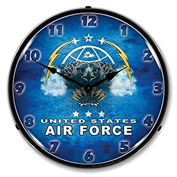 United States Air Force Retro Vintage Style Lighted Clock