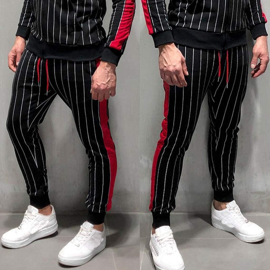 Qinhanjia Mens Hip Hop Premium Slim Fit Track Pants Athletic Drawstring Joggers Sweatpants Fitness Long Pants Mens Casual Fitness Bodybuilding Pocket Skin Full Length Sports Pants Bekleidung