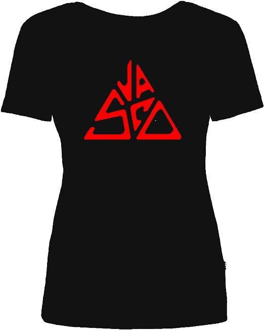 Maglietta T Shirt Vasco Rossi Donna Replica Logo 100% Cotone Tour Vasco