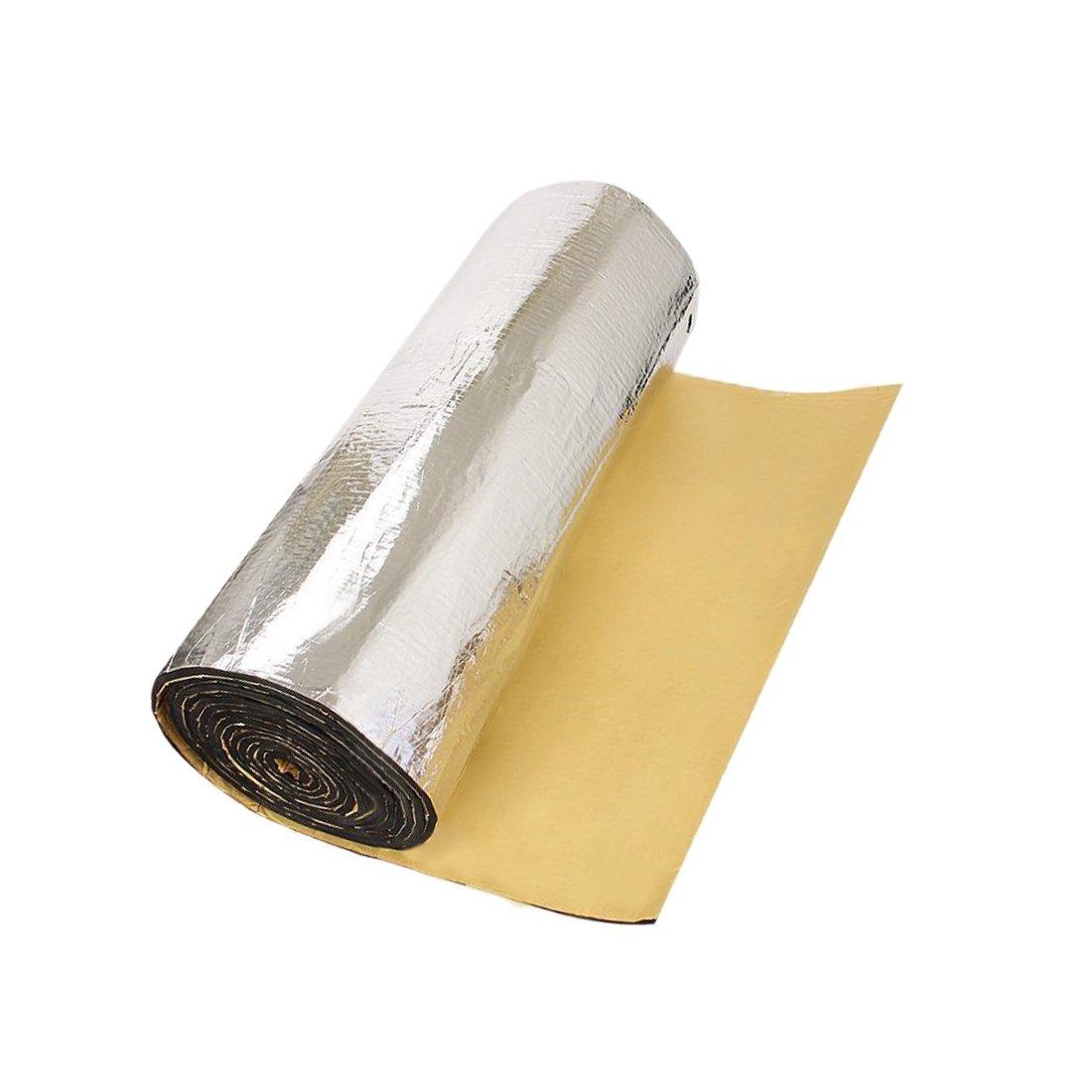 uxcell Aluminum Foil Car Heat Insulation Self Adhesive Foam Sound Proof Mat 140 x 100CM