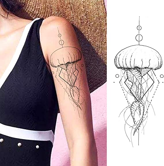 LAROI 9 Hojas Grandes Olas Del Mar Surf Tatuajes Temporales Mujer ...