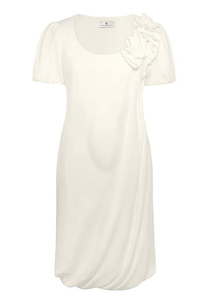 Bellybutton Vestido de novia - Manga Corta - Mujer Marfil Off-white - Elfenbein (