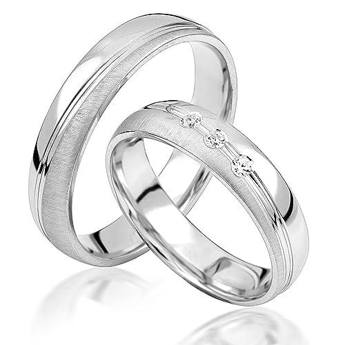 JC alianzas alianzas de anillos de compromiso Amistad Anillos Plata de ley 925 * Incluye Funda