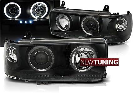 Faros delanteros Toyota Land Cruiser FJ 80 90-97 negro