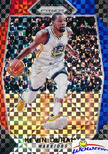 2017/18 Panini Prizm #44 Kevin Durant Red,White and Blue Starburst Prizm Refractor card in MINT Condition Warriors Shipped in Ultra Pro Toploader to Protect -