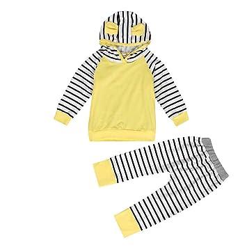 dbbf6e3e3 Amazon.com  FEITONG 1Set 2Pcs Infant Toddler Baby Boy Girl Hooded ...