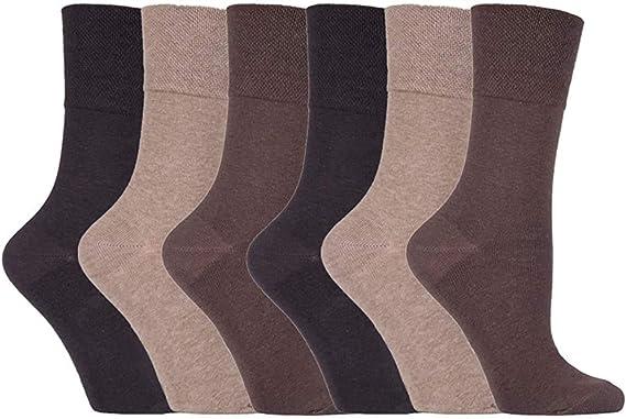 Ladies 6 Pairs Socks Black Ankle Cotton Rich Comfort Top Socks Size UK 4-8