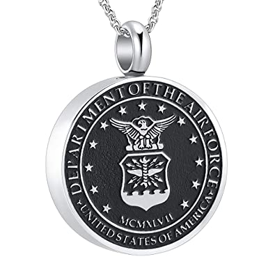 98aeab0863b love of life SS8417 USA Army Memorial Necklace Anniversary Keepsake  Cremation Ashes Urn Pendant Necklace (