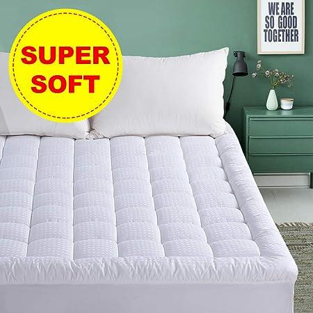 Amazon.com: EMONIA Almohadillas para colchón superior: Home ...