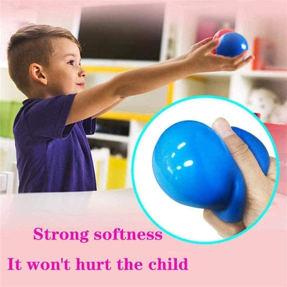 Stretch Squeeze Stress Balls Toy SZSCUTE 8pcs Sticky Globbles Ball Stress Toy Fluorescent Sticky Balls Stress Relief Wall Balls for Adults Kids Decompression Kid Toy Gift