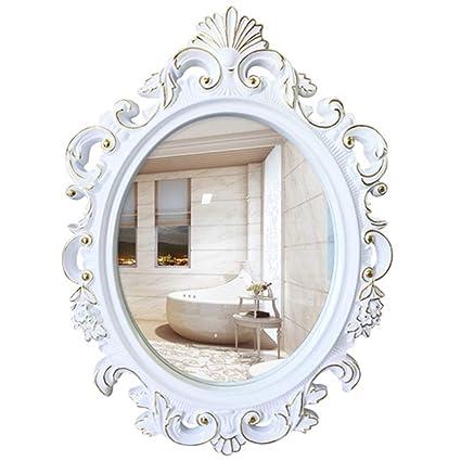 Mirror Antique Mirror European Oval Bathroom Mirror Bathroom Mirror Vanity  Mirror Art Mirror Decoration Bathroom Mirror - Amazon.com: Mirror Antique Mirror European Oval Bathroom Mirror