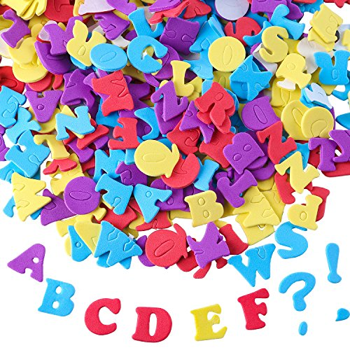 Aneco 624 Pieces Adhesive Foam Letters Self-Adhesive Letter Stickers Alphabet Stickers A to Z Colorful Letter -