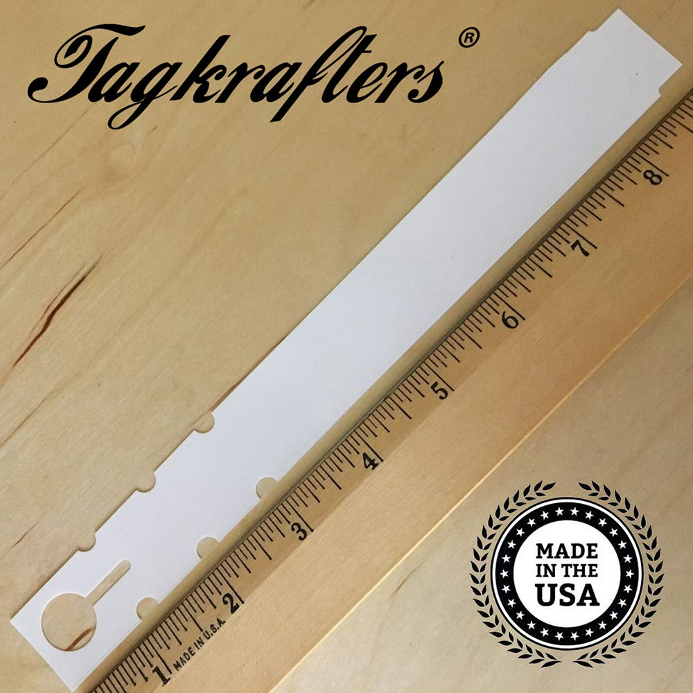 Tagkrafters 9'' x 1'' White - 2,000 Pcs - Plastic Plant Tags and Labels - Wrap Around Thermal Plastic - Nursery Garden Tree Labels by Tagkrafters