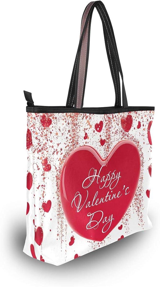 Tote Bag Valentines Day Heart On Plaid Handbag Satchel with Shoulder Length Handles for Women
