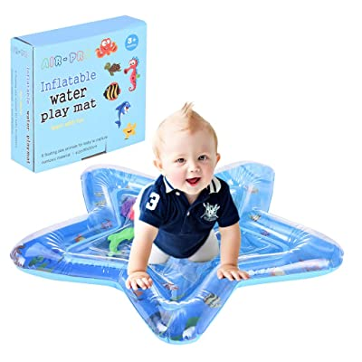 Pentagram Inflatable Tummy Time Mat Premium Baby Water Play Mat,Sensory Developmental Toys for Babies,Inflatable Baby Infant Floor Play Mat Baby Gifts ,US Shipping : Baby