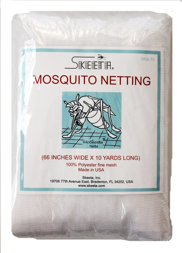 Mosquito Netting By Skeeta 66'' Wide X 10 Yards - White