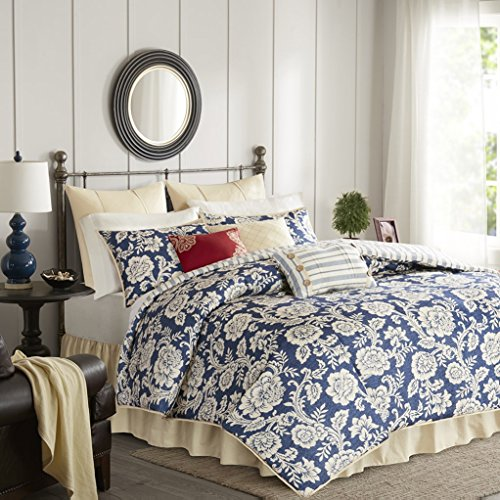 Lucy Cotton Twill 9 Piece Queen Comforter Set by Madison Park -