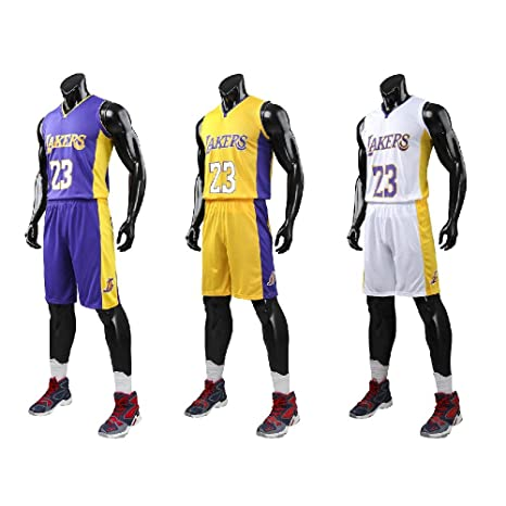 the latest c487c 39212 XCR Kids Boys Girls Men Adults NBA Lebron James #23 LBJ LA Lakers RETRO  Basketball Jerseys Summer Suits Kits Top+Shorts 1 Set