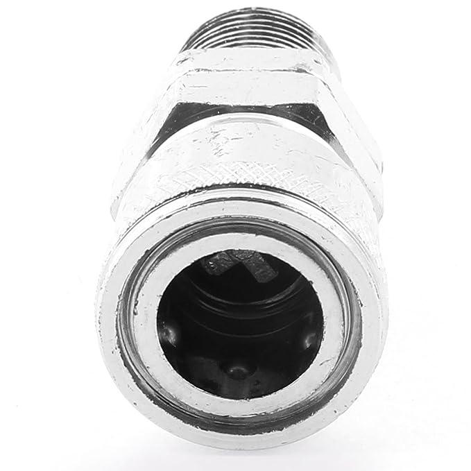 eDealMax 2 PC SM-30 de 16 mm 3 / 8BSP masculino rosca hembra acoplador de aire rápida de montaje - - Amazon.com