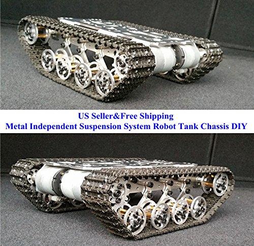 US Metal Independent Suspension System Robot Tank Chassis DIY Arduino - Diy Tank