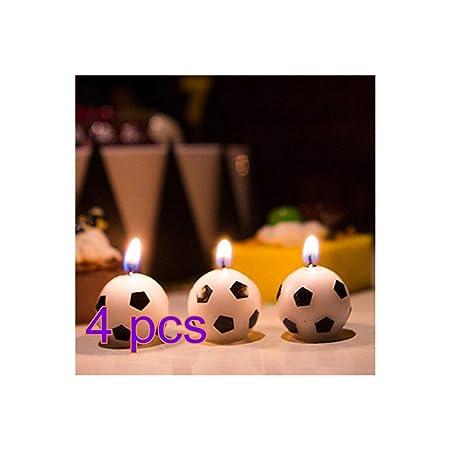 12 velas de fútbol para fiesta de cumpleaños, velas redondas ...