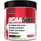 Evlution Nutrition BCAA5000 Powder 5 Grams of Branched Chain Amino Acids (BCAAs) Essential for Performance, Recovery, Endurance, Muscle Building, Keto Friendly, Zero Sugar, 30 Servings (Cherry Limeade)
