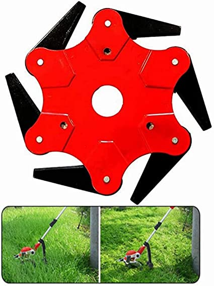 """6/"""" Steel Solid Mower Head Trimmer Accessories For Garden Weed Brush Lawn Mower"""