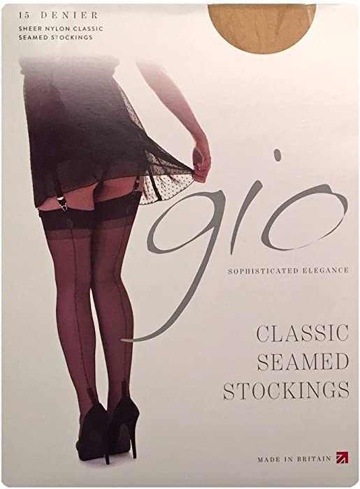 e4c8dbc8708 Gio cuban heel fully fashioned stockings - FULL CONTRAST 10 (5 7