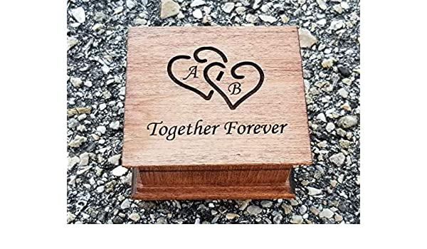 anniversary gift idea custom engraved message on bottom side