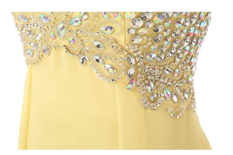 SimpleDressUK Women's Bead Chiffon Bridesmaid Wedding Party Prom Dress